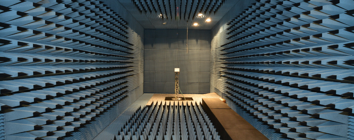 Inner view of the anechoic chamber